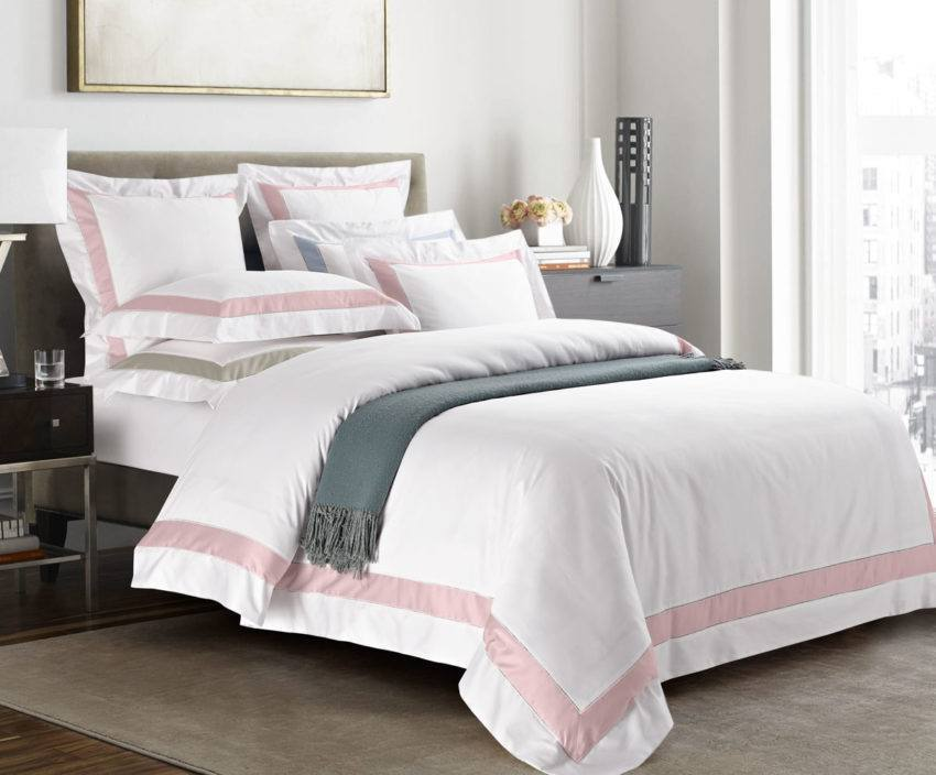 Постельное бельё Sharmes. Коллекция «Prime». Цвет: нежно-розовый.