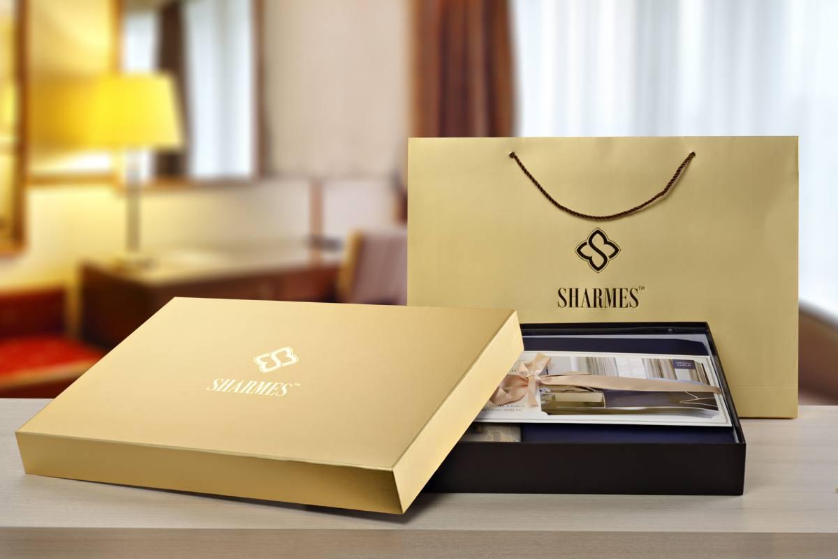 Подарочная упаковка постельного белья  Sharmes