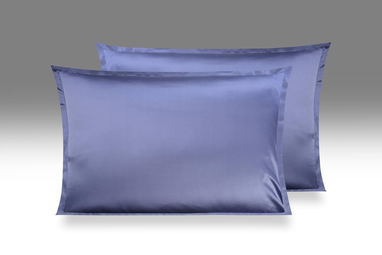 Синяя Шелковая наволочка OnSilk