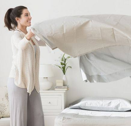 уход за однотонным постельным бельем