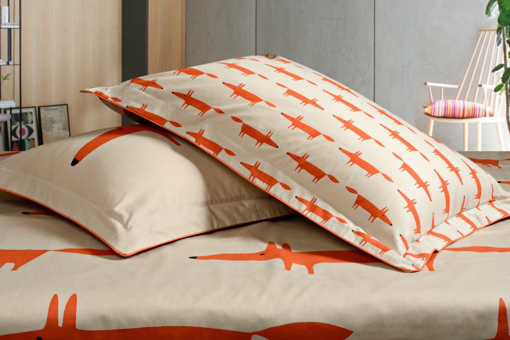 Mr Fox Mandarine Pillowcase
