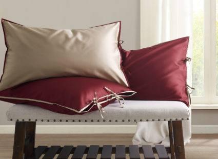 """Купить Постельное белье Sharmes , дизайн """"Luca"""". Цвет: бордовый/серо-бежевый."""