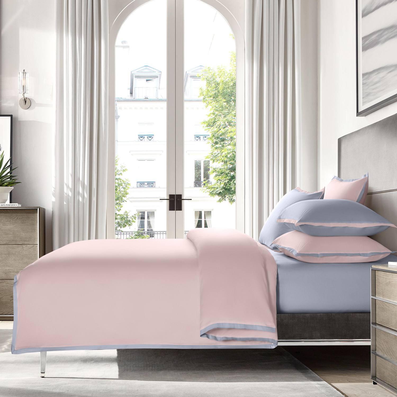 """Постельное белье Sharmes """"Cockteil"""" Цвет: Нежно-розовый/жемчужно-серый"""
