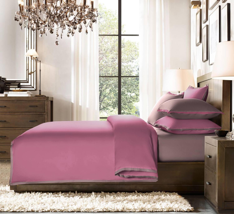 """Постельное белье Sharmes """"Cocktail"""" Цвет: Темно-розовый/темно-терракотовый"""