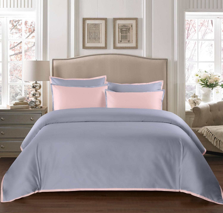 """Постельное белье Sharmes """"Cockteil"""" Цвет: Жемчужно-серый/нежно-розовый"""