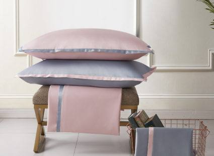 """КупитьПостельное белье Sharmes """"Cockteil"""" Цвет: Жемчужно-серый/нежно-розовый"""