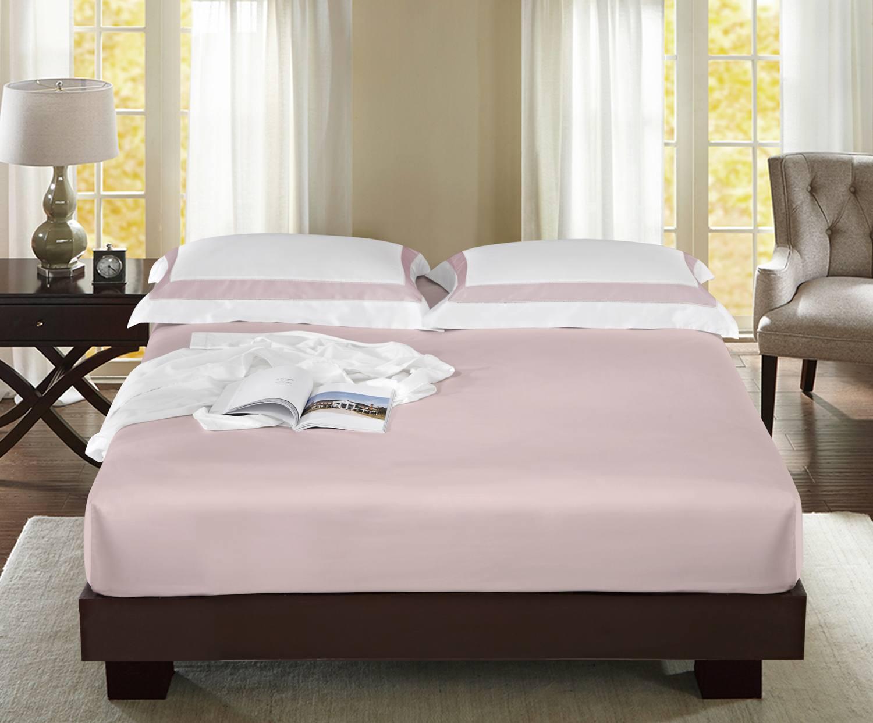 """Простынь на резинке  """"Sharmes"""" Цвет: нежно-розовый"""