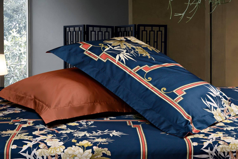 Наволочке в комплекте постельного белья China Blue (Sharmes).