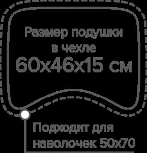 "Размер анатомической подушки ""Latex like"" (OnSilk)"