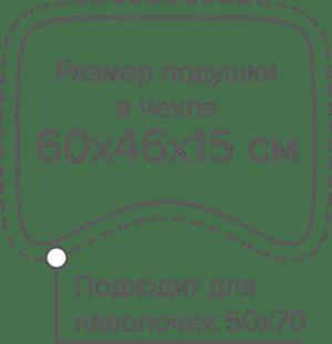 Размер анатомической подушки