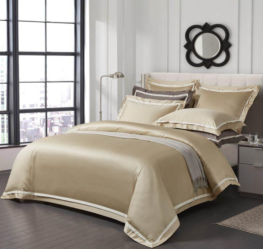 Постельное белье Sharmes Solid- Amour  белое золото