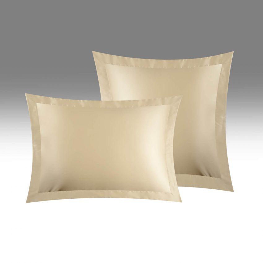 Наволочки однотонные(2100) белое золото