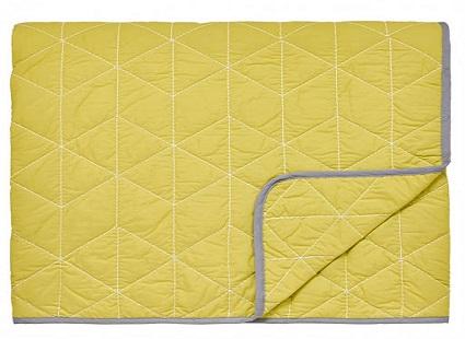 Купить Покрывало стеганое Scion ярко желтого цвета